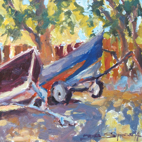 Dreaming Drifters 8x8 oil on board en plein air