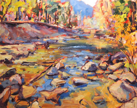 Meandering Merced 16x20 oil on canvas