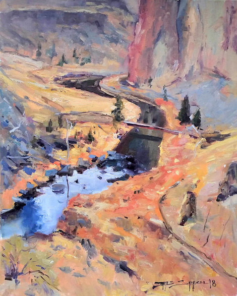 _Over The Crooked River_ 16x20 Oil 1920.