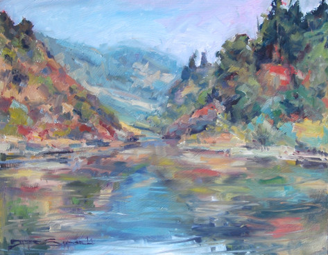 Taylor Creek Gorge 4 16x20 oil on board en plein air SOLD