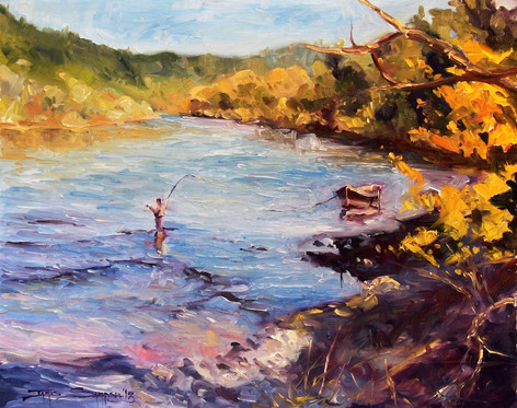 Flanagan's Slough 20x16 oil on board