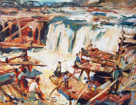The Celilo, 16x12 acrylic on canvas, SOLD