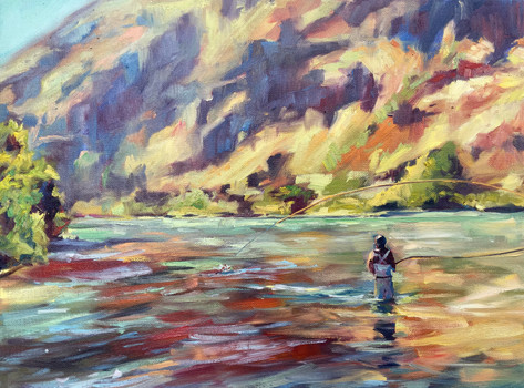 D on the Horizon, 12x16 oil on canvas, SOLD
