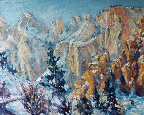 The Road To Zion 20x16 oil on canvas board