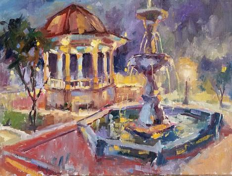 Night Fountain 12x16 o/c.jpg