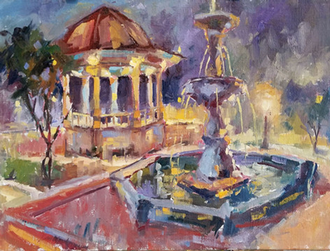 Night Fountain 12x16 o/c.jpg