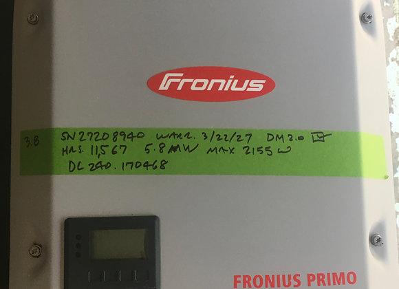 Fronius Primo 3.8 with WiFi/Lan