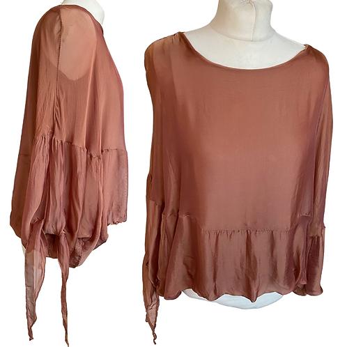 Silk Copper Floaty Top