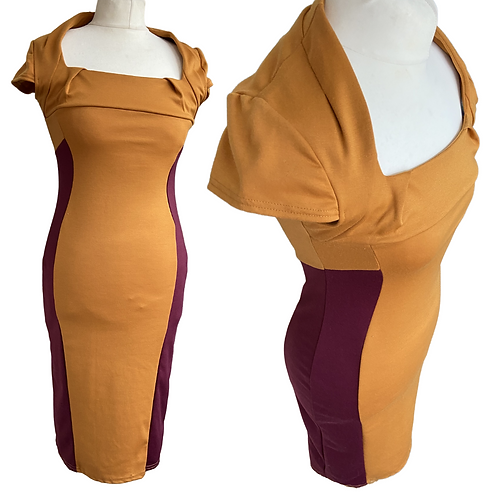 2 Tone Fitted  Dress