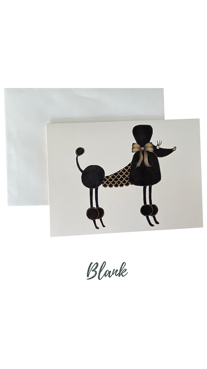 Poodle Greetings Card UK Free Post