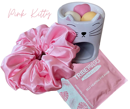 Pink Kitty Oil Burner Relax Retreat Gift Set