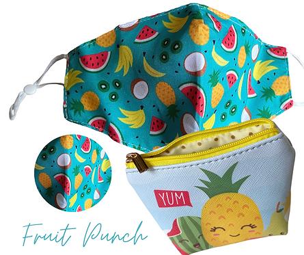 Pineapple Face Mask/Sanitiser  Travel Pouch