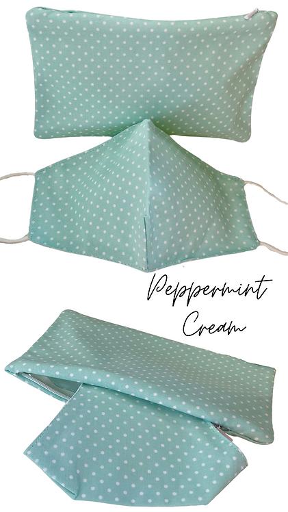 Peppermint Cream  Adult Face Mask Travel Set