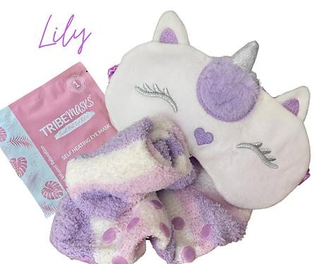 Lily Unicorn Sleep Mask Set
