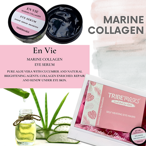 Tribemasks Self-Heating Eye masks & Marine Collagen Retreat Box