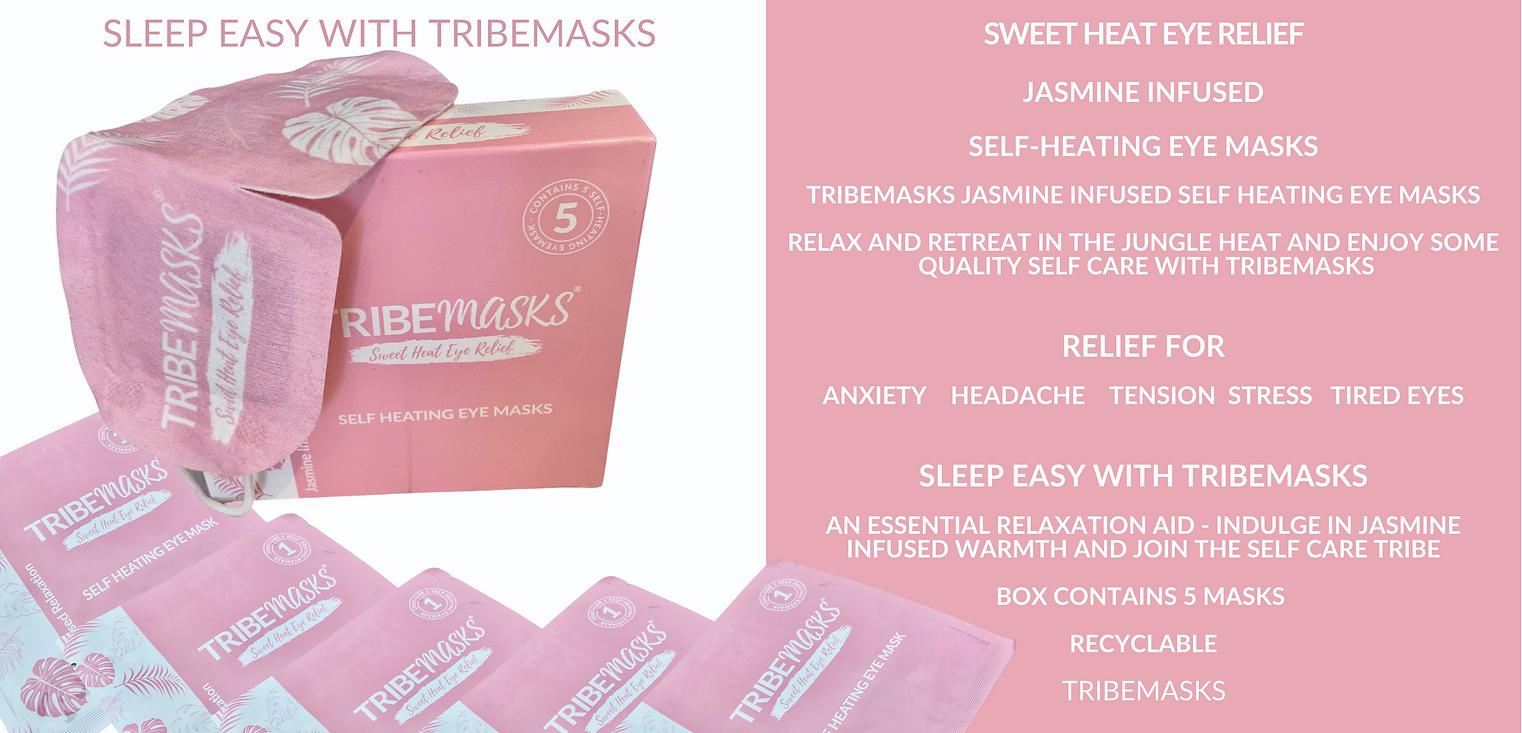 Tribemasks self-heating eye mask