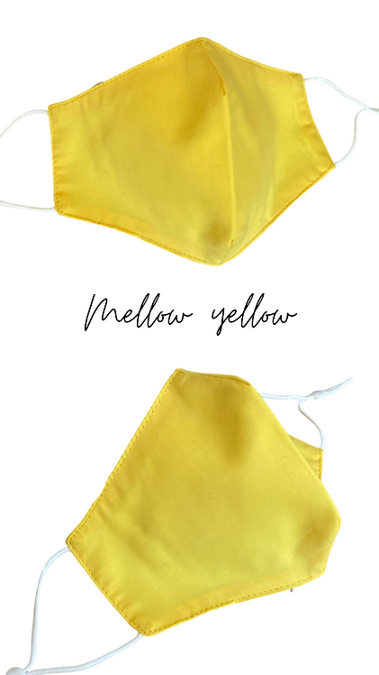 Mellow yellow Adult Fabric Face Mask Made In Uk Free Post