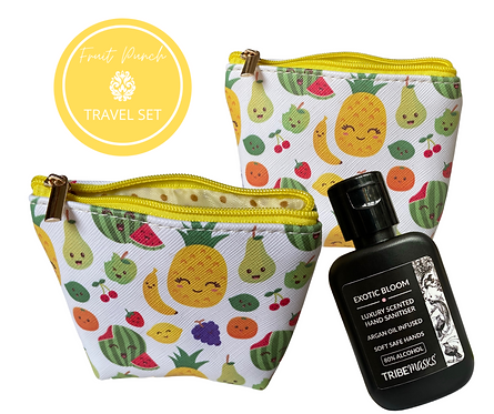 Fruit Punch Sanitiser And Travel Pouch