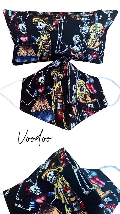 Voodoo  Adult Face Mask Travel Set