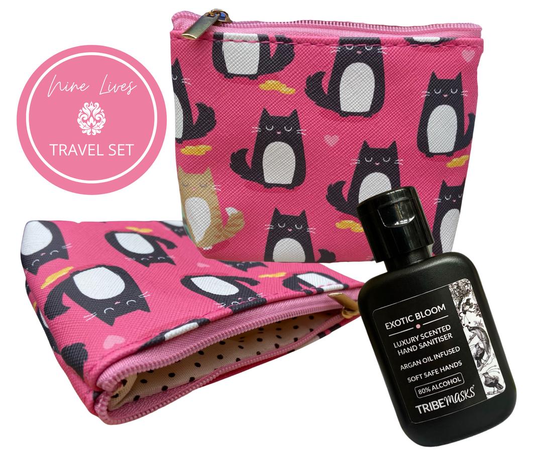Nine lives cat pouch sanitiser travel set