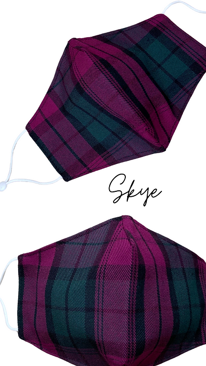 Skye Adult Fabric Face Mask Made In Uk Free Post
