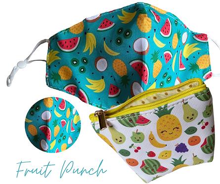 Fruit Punch Face Mask/Sanitiser  Travel Pouch
