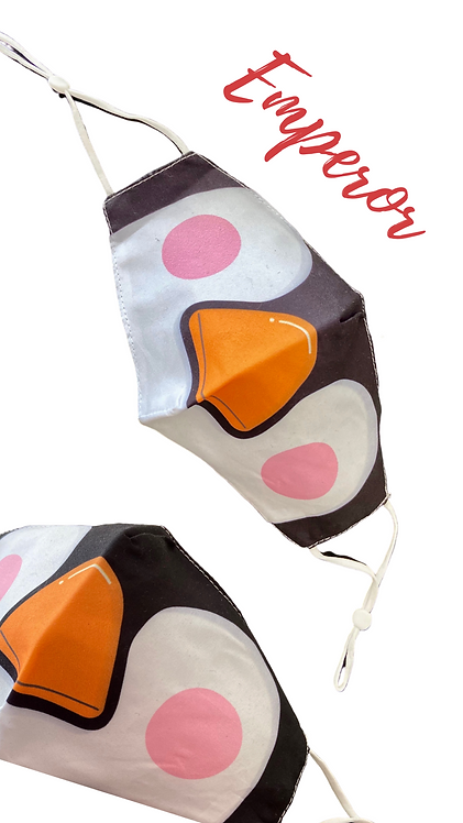 Adult Penguin Face Mask Free Post
