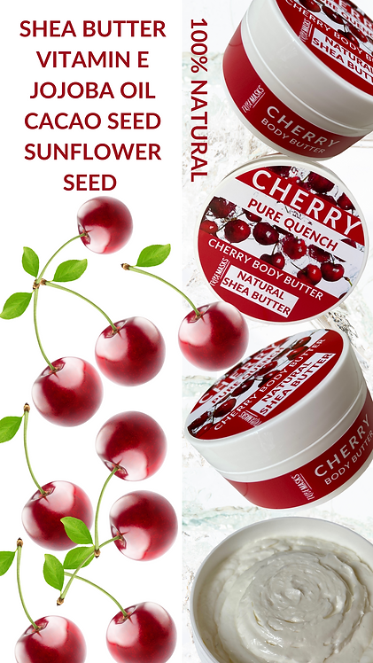 100% Natural Luxury Sweet Cherry Body Butter