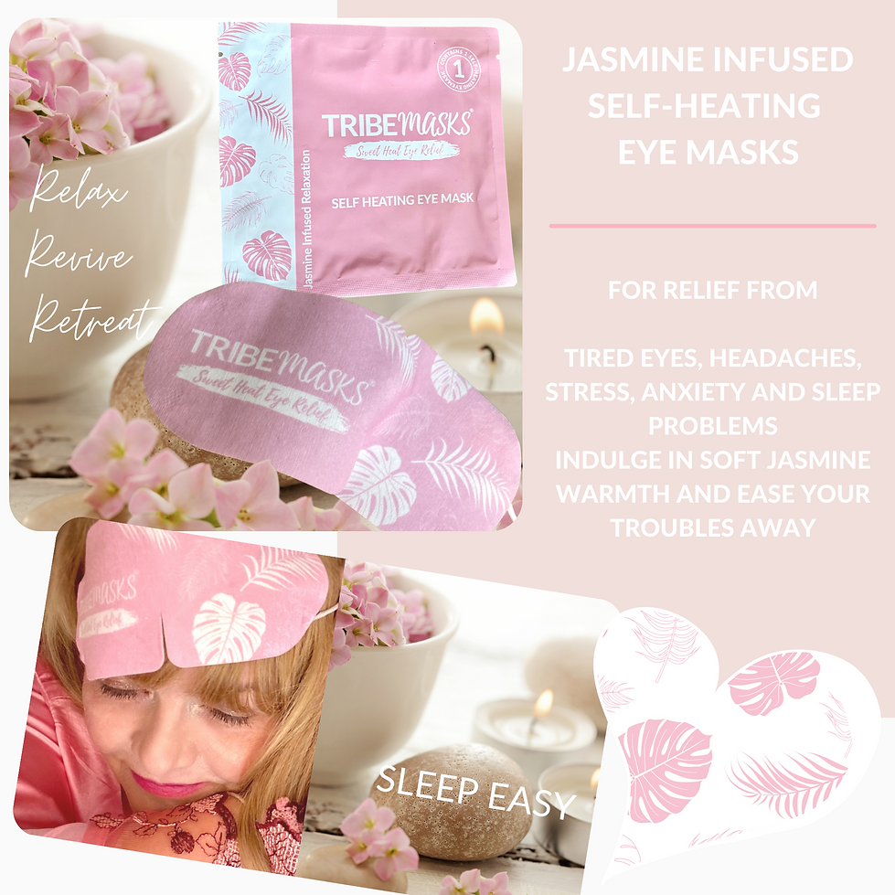 Frilly Chantilly heated eye masks