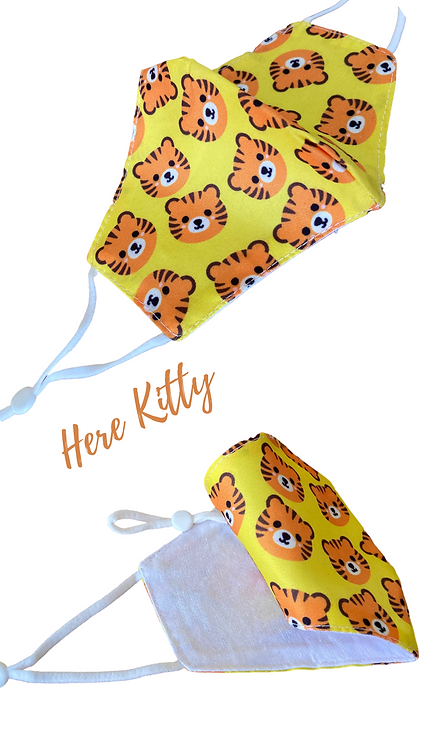 Here Kitty Children's Fabric Face Mask Free Post