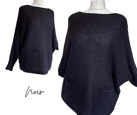 Noir Wool Mix Super Soft Jumper