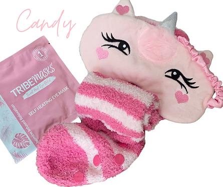 Candy Unicorn Sleep Mask Set