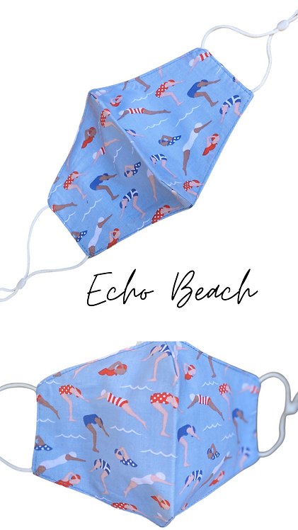 Echo Beach Adult Face Mask Made In Uk Free Post