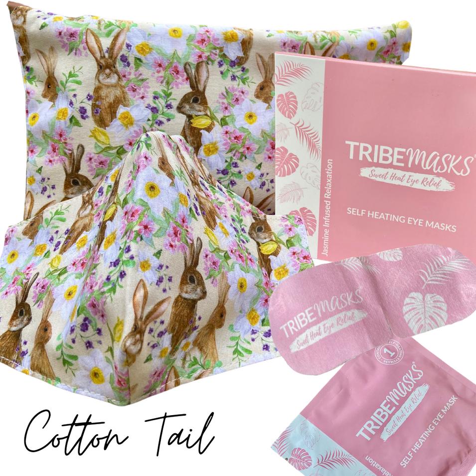 Cotton tail face mask spa set