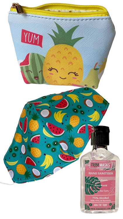 Pineapple Face Mask Sanitiser & Carry Pouch