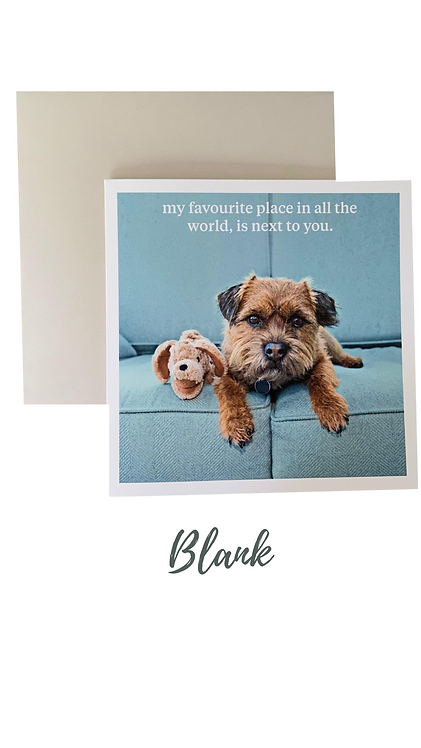 My Favourite Place Greetings Card UK Free Post