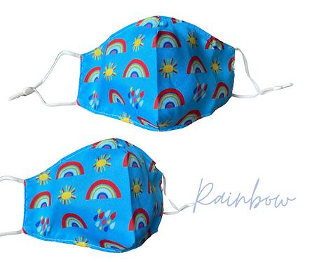 Rainbow Children's Fabric  Face Mask Free Post