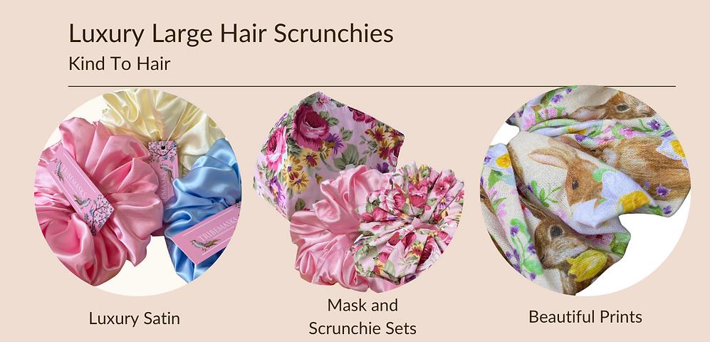 Tribemasks luxury kind to hair scrunchie