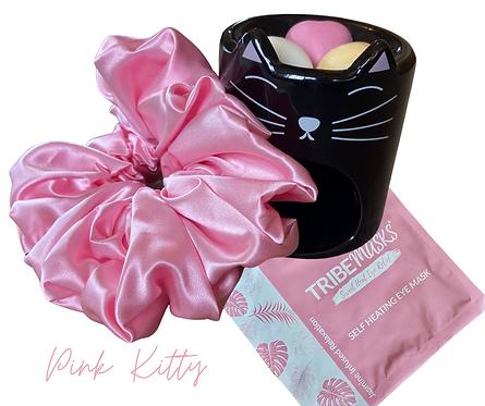Pink Kitty Noir Oil Burner Relax Retreat Gift Set