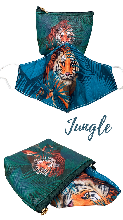 Jungle Face Mask Sanitiser & Carry Pouch