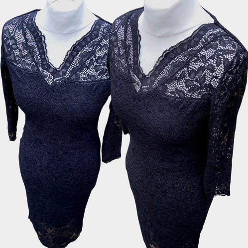 Truffle Black Lace Dress