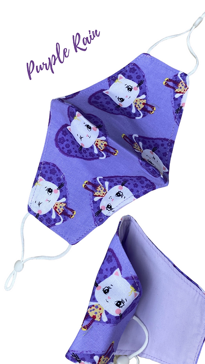 Purple Rain Children's Face Mask Made In Uk Free Postage