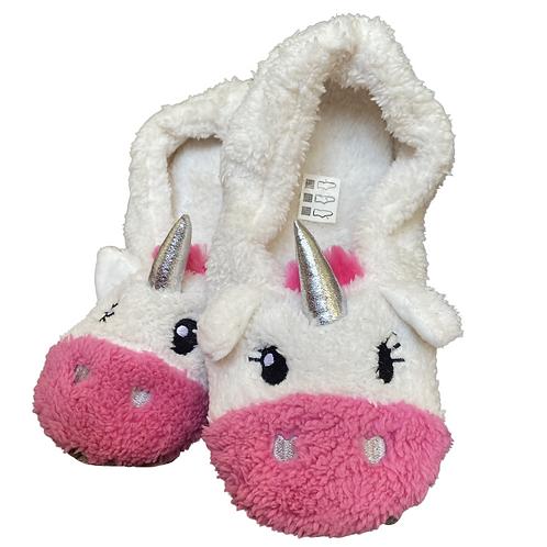 Cerise Unicorn Slippers Adult 5/6
