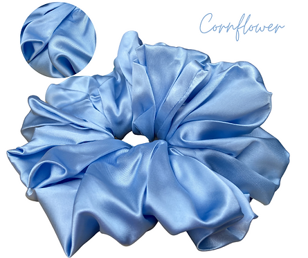 Cornflower Luxury Hair Scrunchie
