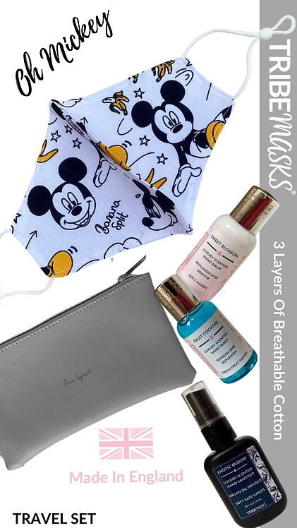 Oh Mickey Face Mask Travel Set