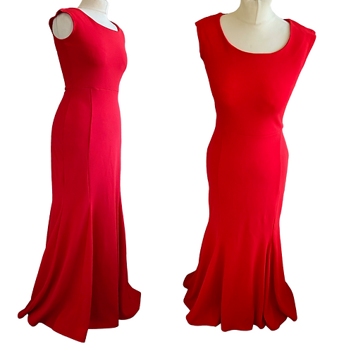Amelie Red Fitted  Dress