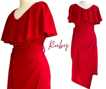 Ruby Ruffle Top Dress
