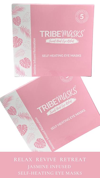 Tribemasks Self-Heating Eye masks Box Of 5 Masks Free Post UK