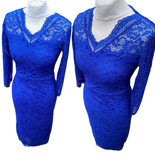Amelie Electric Blue Lace Dress