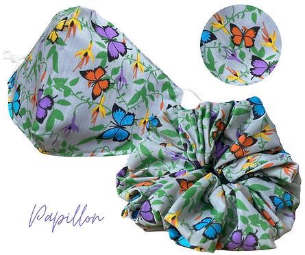 Papillon Face Mask & Scrunchie  UK Free Post